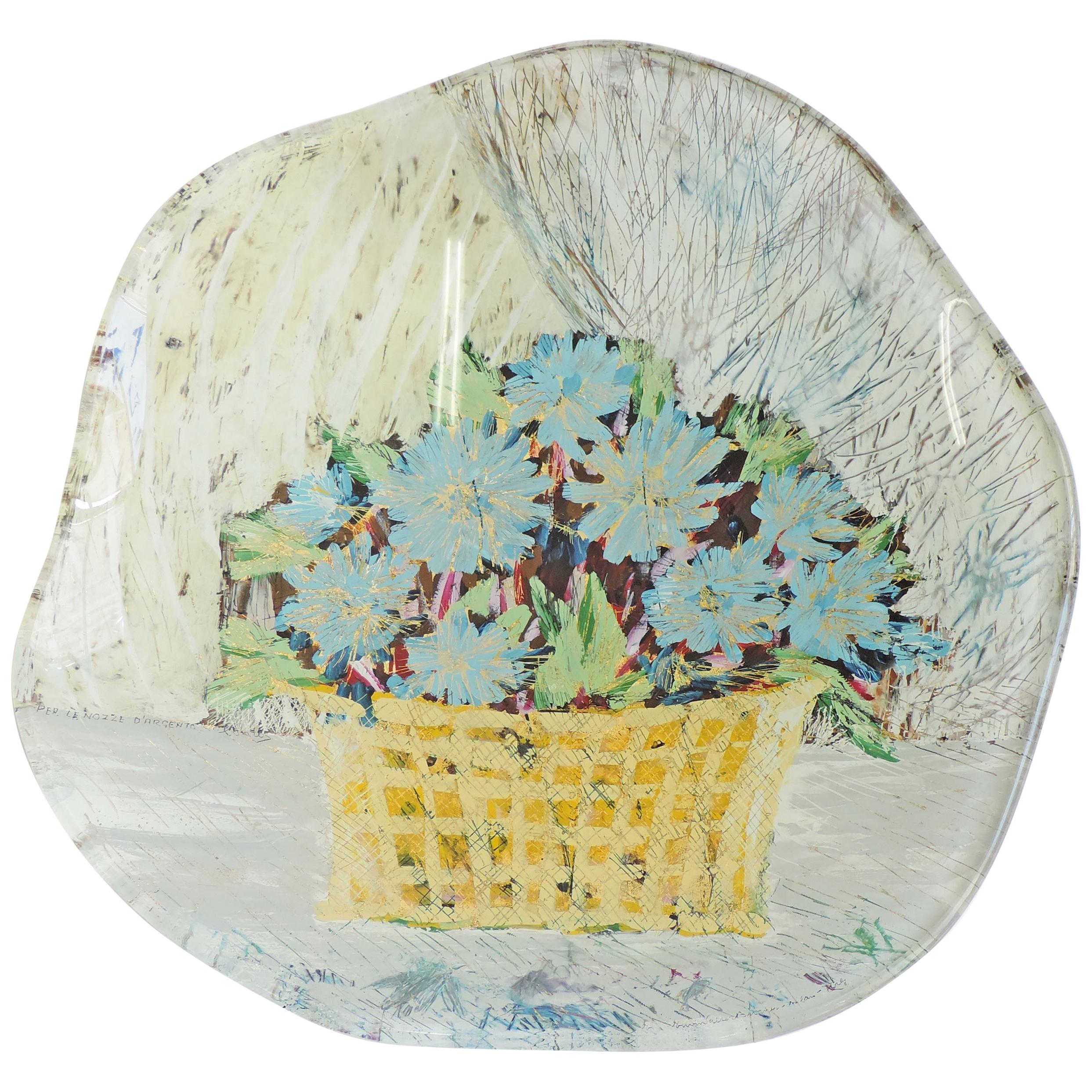 Erwin Walter Burger 'Flowers' Wall Plate