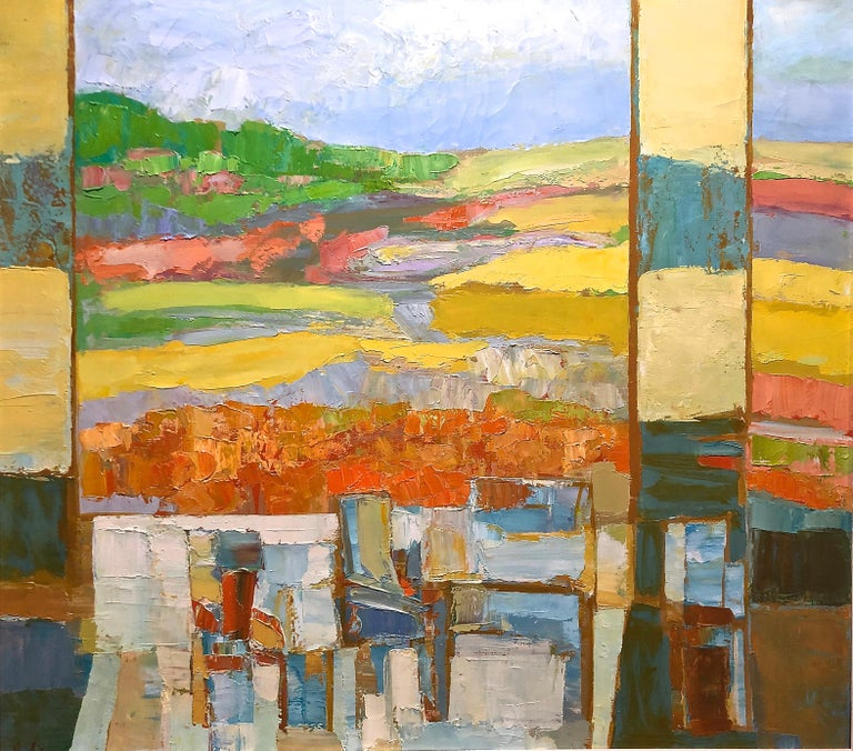 Landscape Abstract Composition - Painting by Erwin Wending