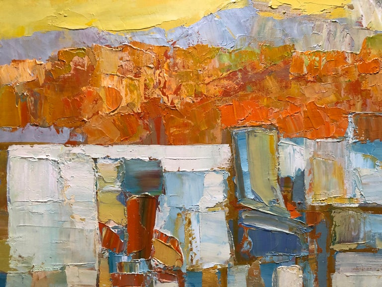 Landscape Abstract Composition - Brown Abstract Painting by Erwin Wending