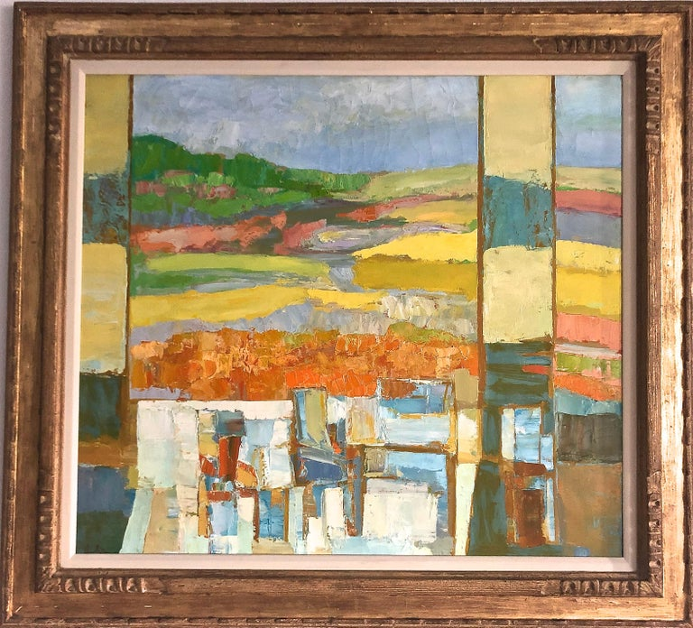 Erwin Wending Abstract Painting -  Landscape Abstract Composition