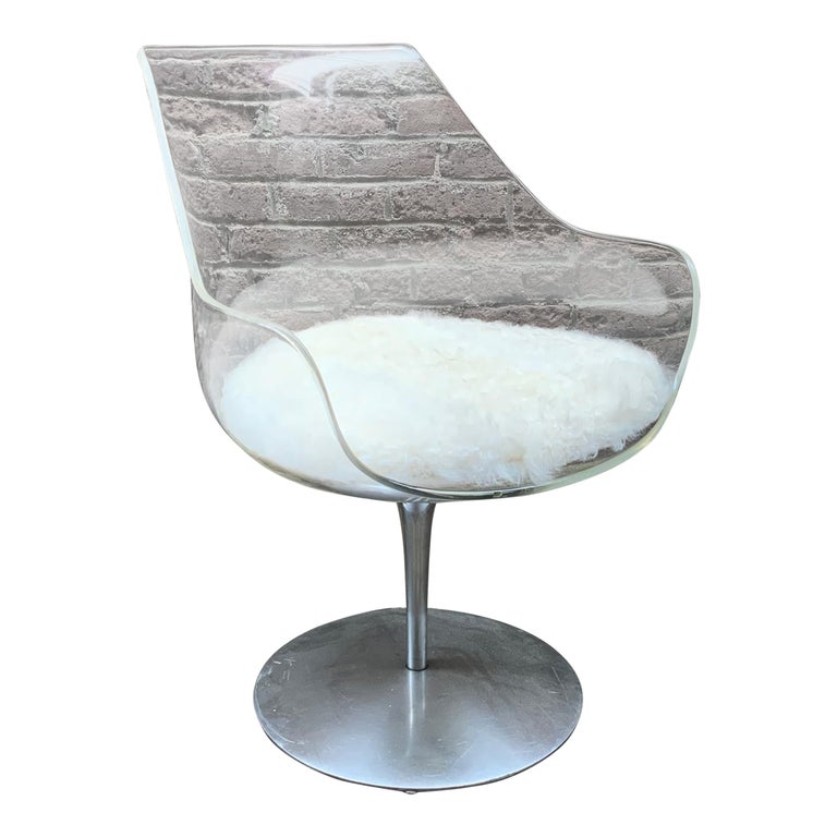 Erwine & Estelle Laverne Champagne Chair For Sale