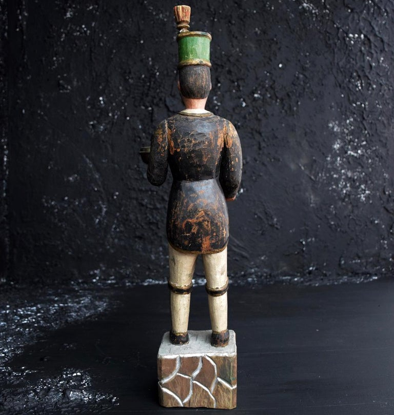 Folk Art Erzgebirge Miner Figure For Sale
