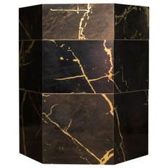 Esa Black Marbled Stackable Catchall Box