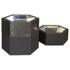 Esa Black Steel Stackable Catchall Box