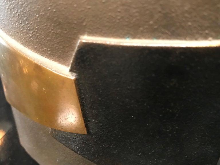 Post-Modern Esa Fedrigolli Bronze AIRONE Italian Vase, 1980 For Sale