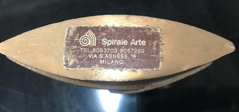 Late 20th Century Esa Fedrigolli Bronze AIRONE Italian Vase, 1980 For Sale