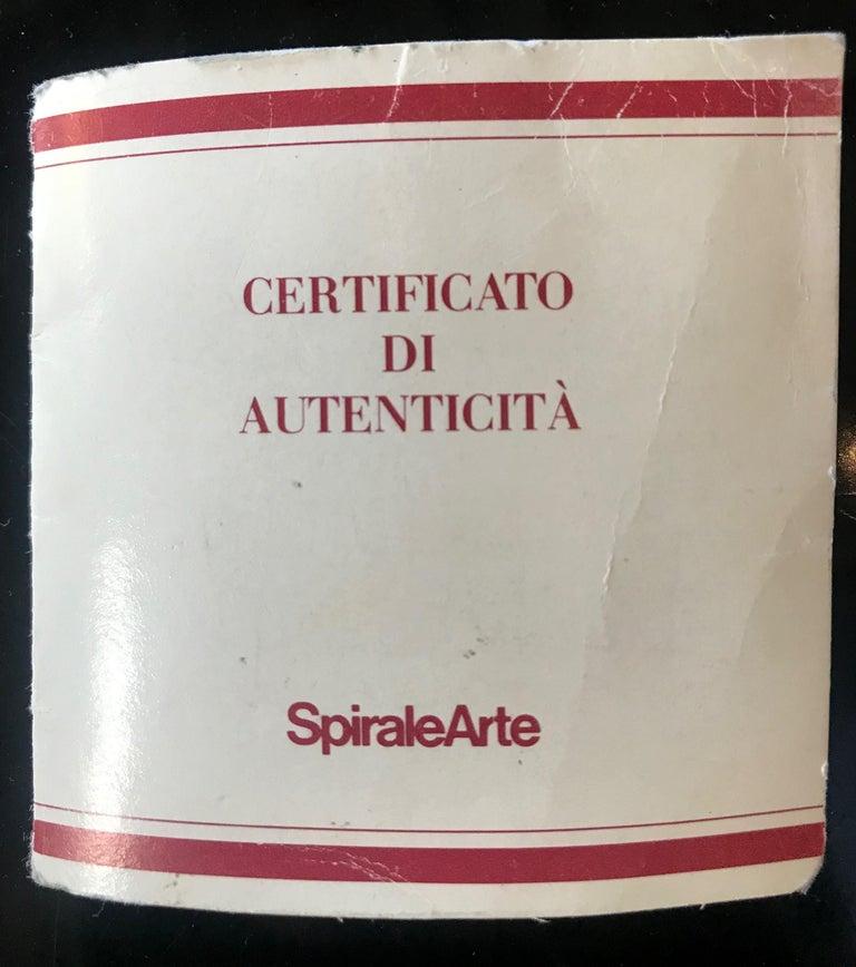 Esa Fedrigolli Bronze AIRONE Italian Vase, 1980 For Sale 1