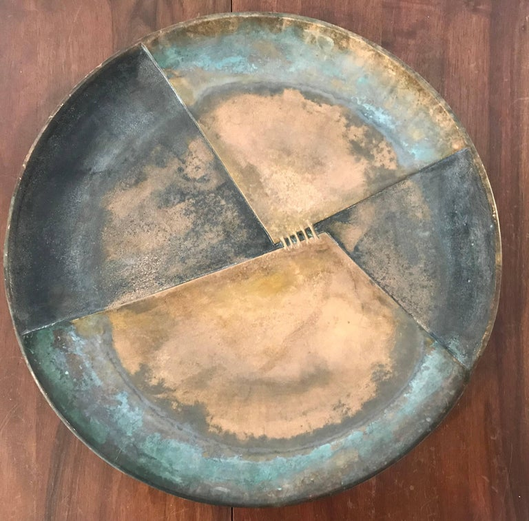 Esa Fedrigolli Bronze Icaro Large Italian Plate For Sale 3