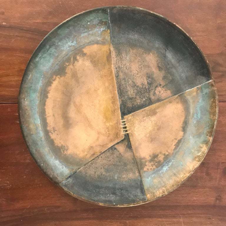 Esa Fedrigolli Bronze Icaro Large Italian Plate For Sale 4
