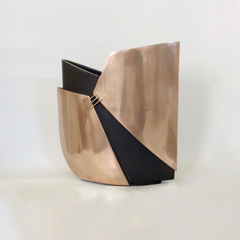 Esa Fedrigolli Bronze Vase, circa 1970, Italy For Sale 3