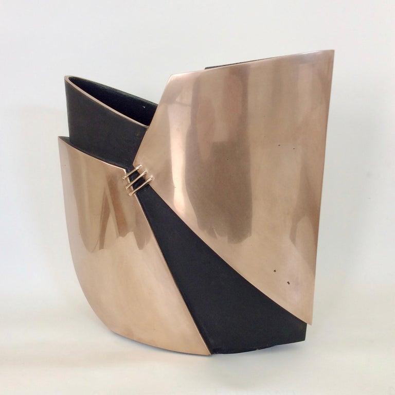Esa Fedrigolli Bronze Vase, circa 1970, Italy For Sale 6