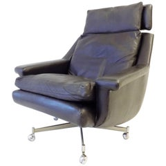 ESA Modell 802 Danish Lounge Chair by Werner Langenfeld, Mid-Century Modern,