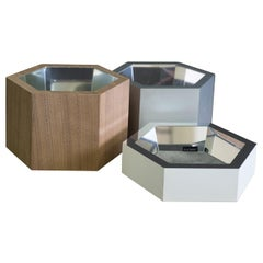 Esa White and Wood Stackable Catchall Box