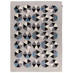 Esagoni Blue Carpet by Gio Ponti