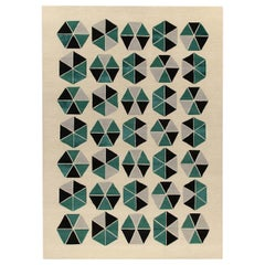 Esagoni Green Carpet by Gio Ponti