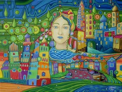 Living in Dream,  Transautomatism, Modern art, Painting, Oil on Canvas