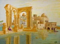 Mediterranean Dream seascape Surrealism Modern Art, Painting