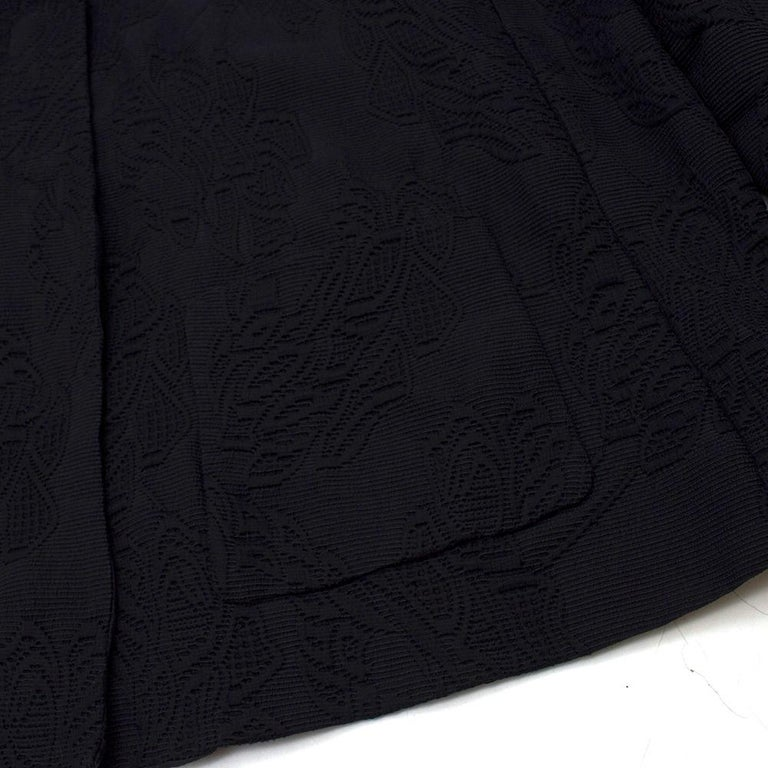 Escada Black Embroidered Silk floral jacket size US 4 For Sale 1