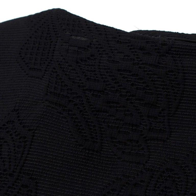 Escada Black Embroidered Silk floral jacket size US 4 For Sale 2