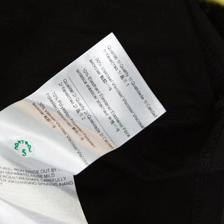 Escada Black Lace Overlay Jersey Crystal Embellished Scoop Neck Erbrou Top M For Sale 1