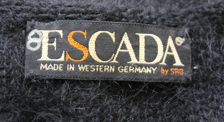 Women's Escada Black Mohair Sweater with Sequins, circa 1980s  For Sale