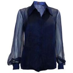Escada Blue Silk Shirt