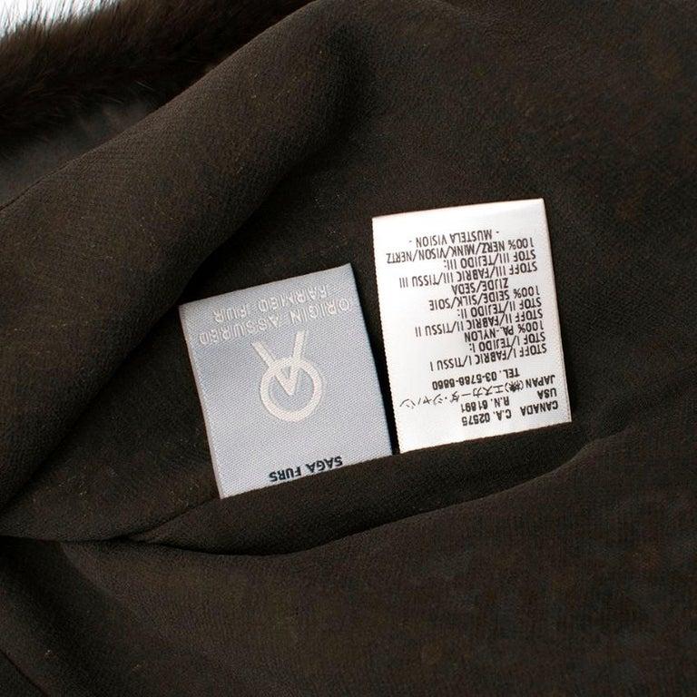 Escada Embellished Mink Vintage Short Sleeve Jacket S 42 IT For Sale 2