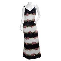 Escada Floral Sequin Maxi Dress