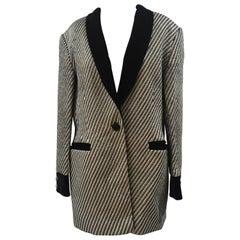 Escada gold and black blazer jacket