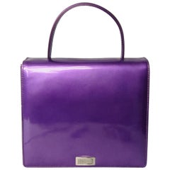 Escada Handbag Purple Calf Leather Escada New, never used 1990s