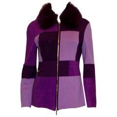 Escada Jacket with Detachable Fur Collar