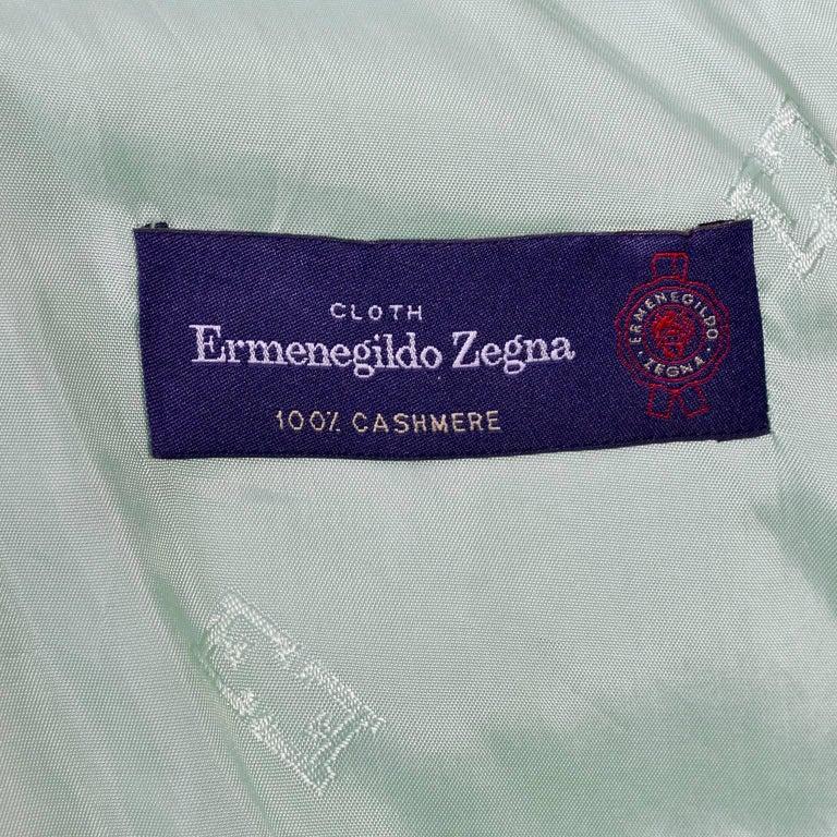 Escada Margaretha Ley Green Cashmere Blazer Jacket in Size 8 For Sale 6