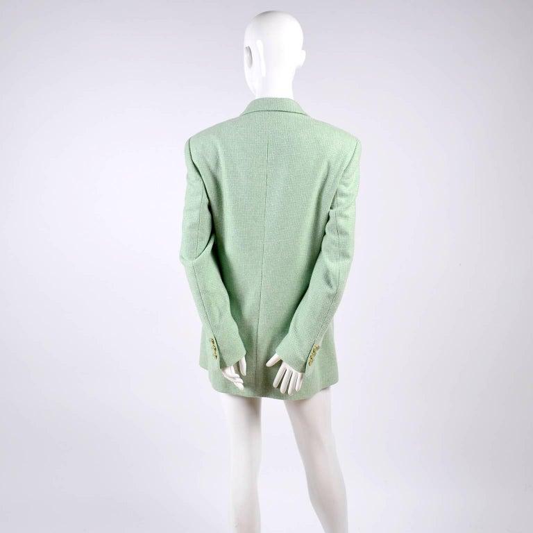 Escada Margaretha Ley Green Cashmere Blazer Jacket in Size 8 For Sale 2