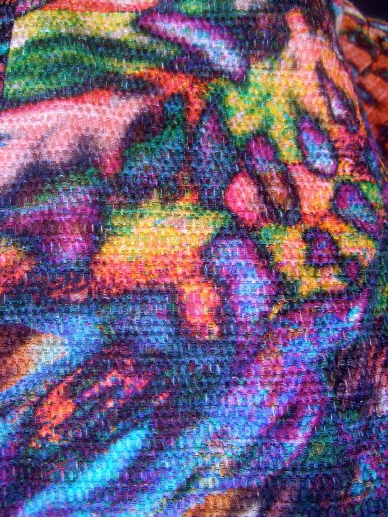 Escada Pastel Psychedelic Graphic Print Jacket  For Sale 3