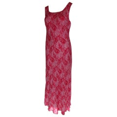 Escada Silk Floral pink/red Dress Small