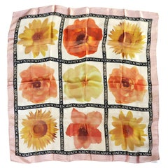 Escada Silk Scarf Floral - Made in Italy - Sunflower  New, Never Worn w/ Tag