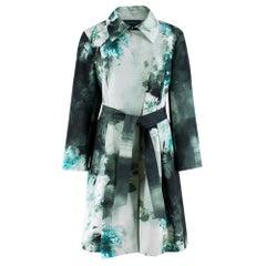 Escada Sport Green Floral Cotton Blend Coat 44