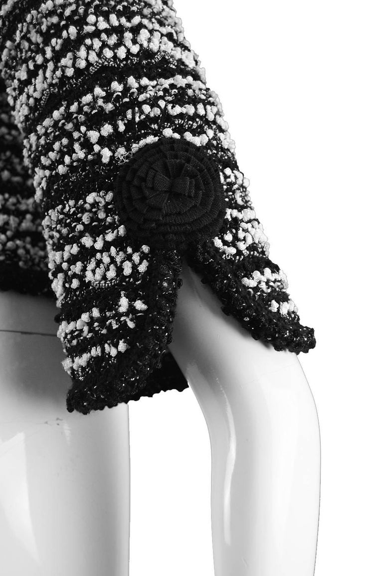 Escada Textured Bouclé Tweed Jacket For Sale 2