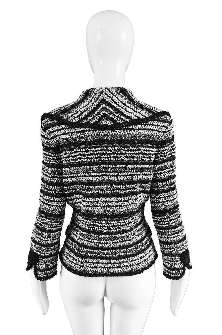 Escada Textured Bouclé Tweed Jacket For Sale 3