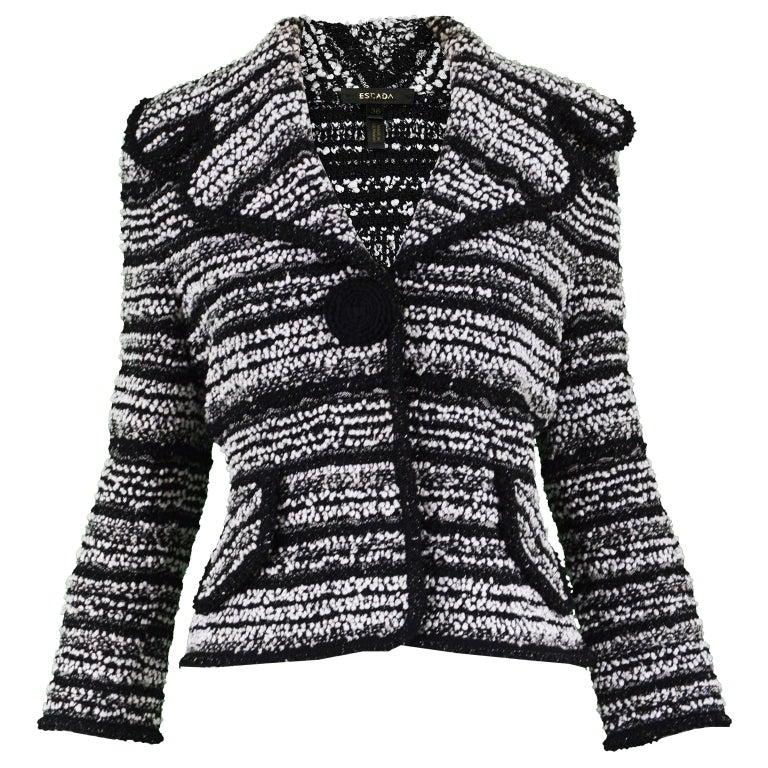 Escada Textured Bouclé Tweed Jacket For Sale