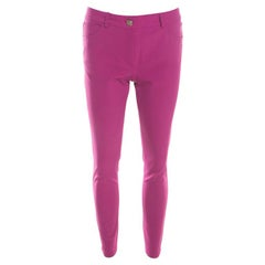 Escada Tourmaline Pink Stretch Crepe Tailored Tygan Trousers S
