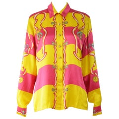 Escada Vintage Silk Shirt 1980s