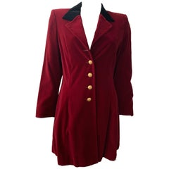 ESCADA Vintage Velvet Black and Maroon Blazer