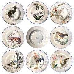 """""""Escalier De Cristal"""" Choisy-Le-Roi Earthenware Dinner Plates, circa 1878"""