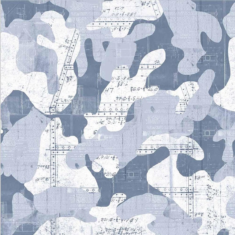 Escape, Cashmere Color-Way, on Pearl Smooth Vinyl Wallpaper For Sale 2
