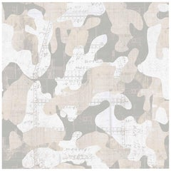 Escape, Cashmere Color-Way, on Pearl Smooth Vinyl Wallpaper