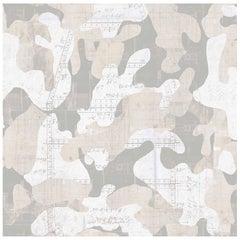 Escape, Cashmere Color-Way, on Pearl Smooth Vinyl Wallpaper