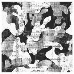 Escape, Midnight Color-Way, on Pearl Smooth Vinyl Wallpaper