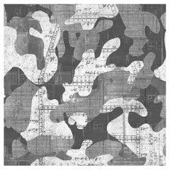 Escape, Moonlight Color-way, on Pearl Smooth Vinyl Wallpaper
