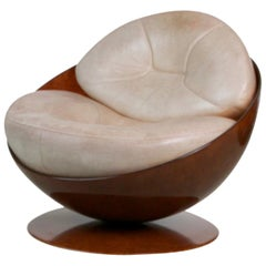"""Esfera"" Resin Sphere Swivel Chair by Ricardo Fasanello, circa 1970 Brazil"